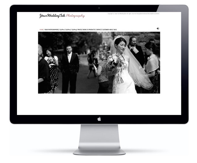 www.yourweddingtale.co.uk is a website for a start up wedding photography business in London.